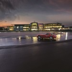 The Exterior of Mercedes Benz world taken the evening the Star was installed.