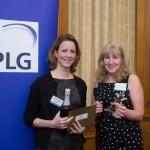 BD Newcomer Award winner Anne Vroon, Genmab with Sharon Finch