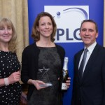 Sharon Finch, BD Newcomber Award winner Anne Vroon, Genmab and Campbell Wilson, PLG Chairman